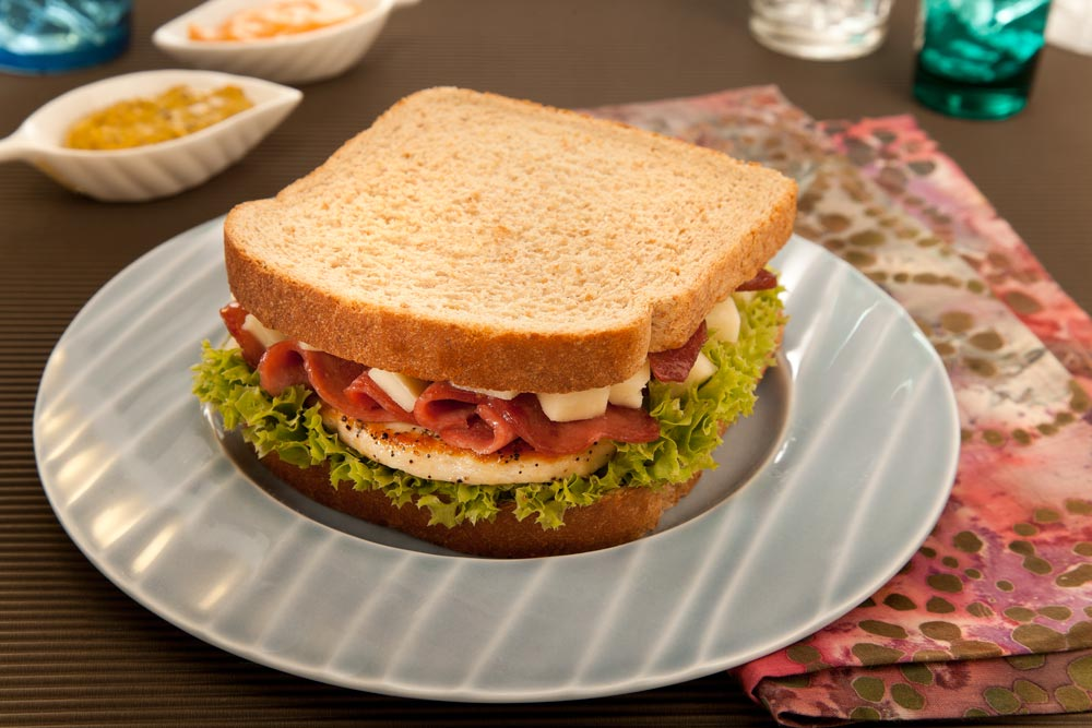 Receta sándwich de pollo Bimbo®